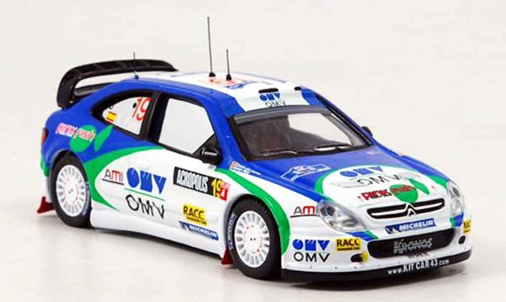 Citroen Xsara WRC 2005 1/43 IXO no.19 pons del barrio rallye acropolis miniature