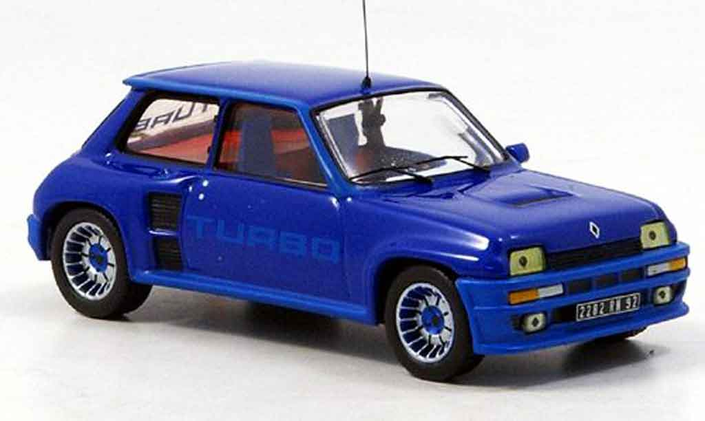 Renault 5 Turbo 1/43 IXO i azul 1982 miniatura