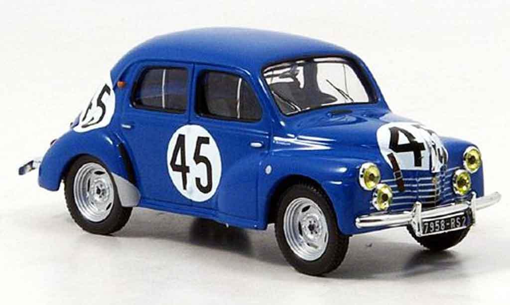 Renault 4CV 1/43 IXO no.45 vernet le mans 1950 miniature