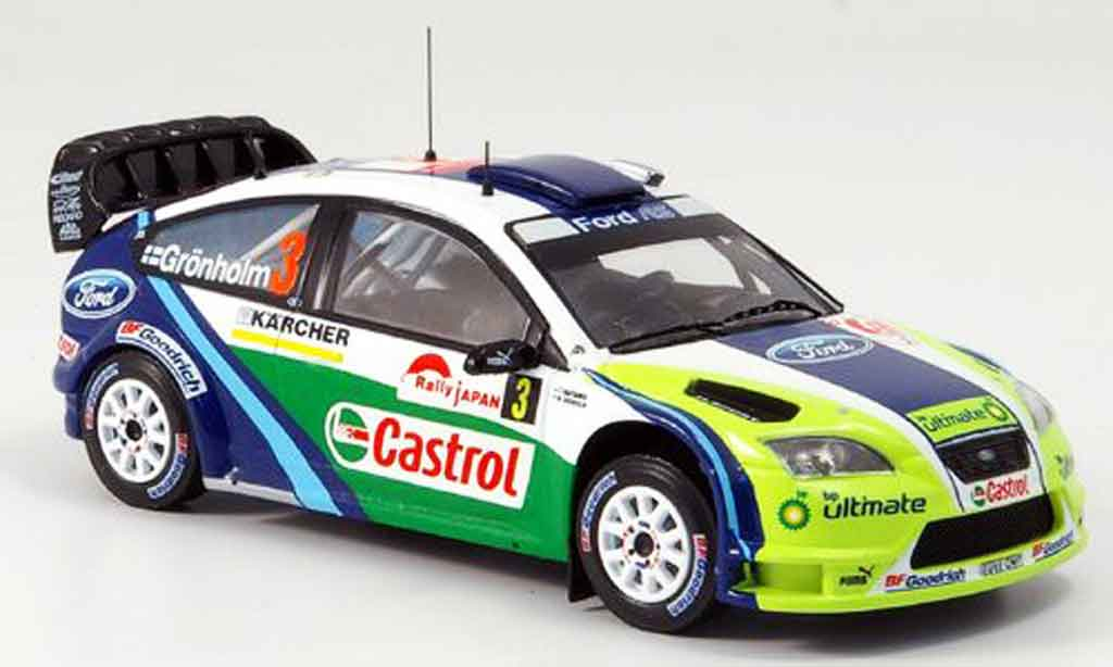 Ford Focus RS WRC 1/43 IXO No.3 Gronholm Rally Japan 2006 miniature