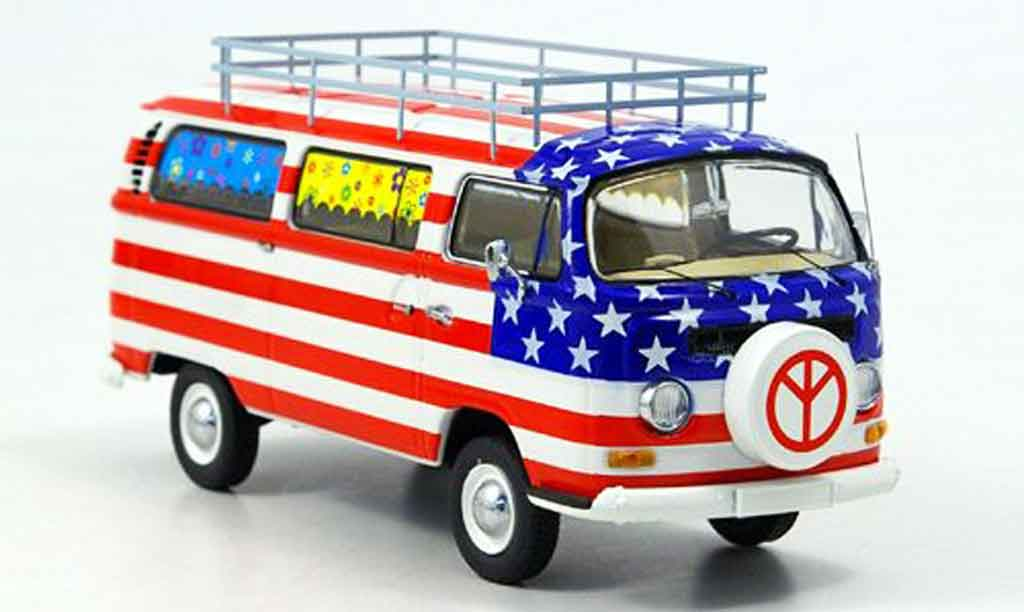 Volkswagen Combi 1/43 Schuco t2a bus stars and stripes
