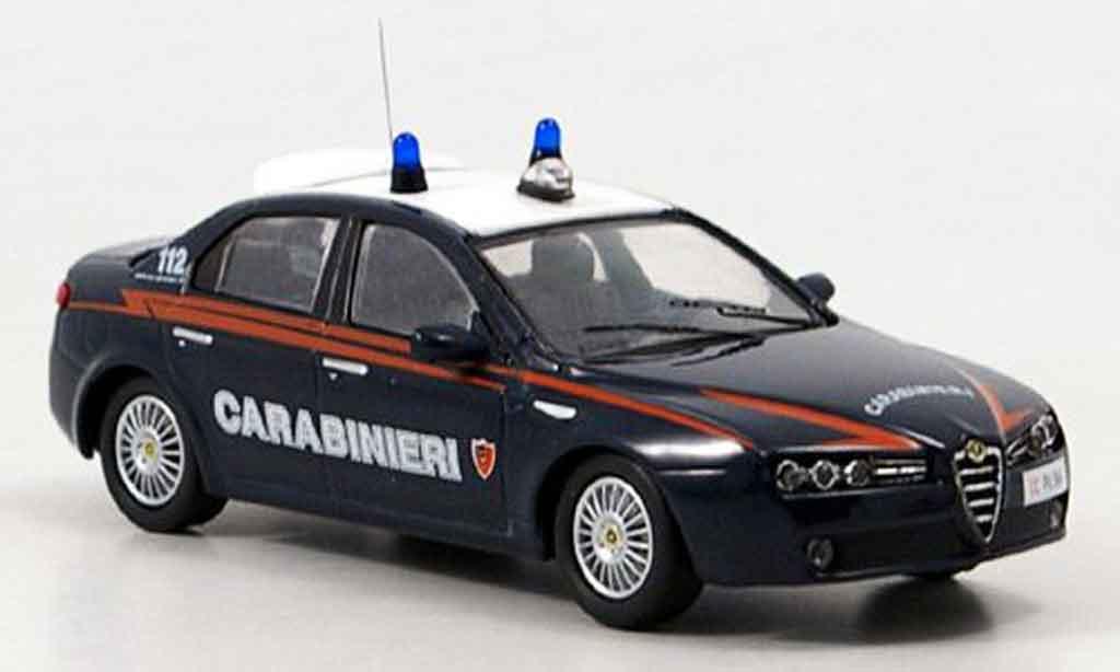 Alfa Romeo 159 1/43 M4 carabinieri 2007 diecast
