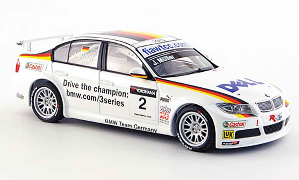 Bmw 320 WTCC 1/43 Minichamps Muller Team Germany WTCC 2007 miniature