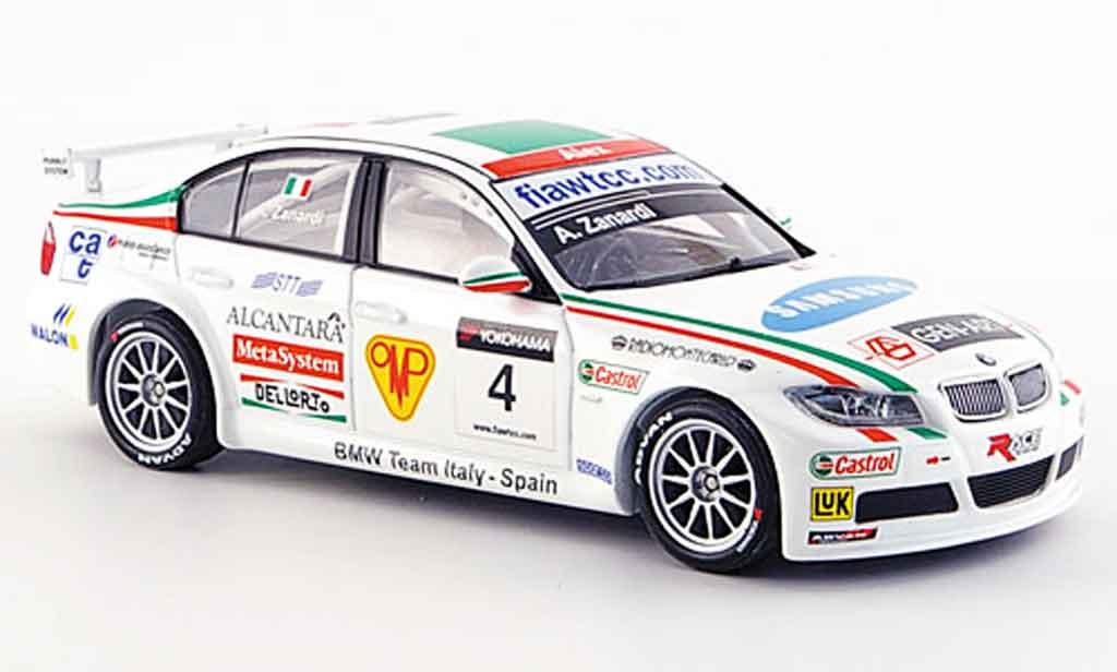 Bmw 320 WTCC 1/43 Minichamps Zanardi Team Italien Spanien 2007 diecast model cars