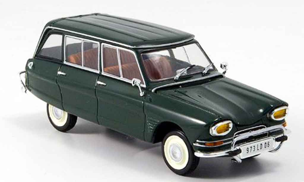 Citroen Ami 6 1/43 Minichamps break green 1967 diecast