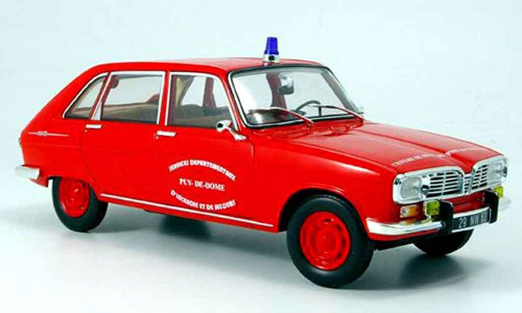 Renault 16 1/18 Norev pompiers pont du chateau 1968 miniature