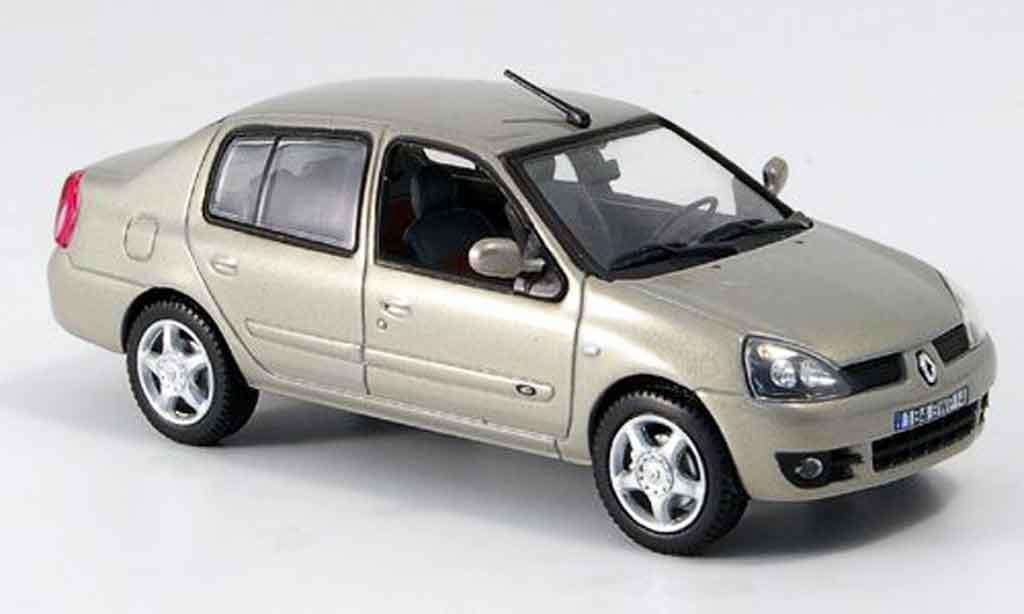Renault Clio 1/43 Norev symbol beige 2007 miniature