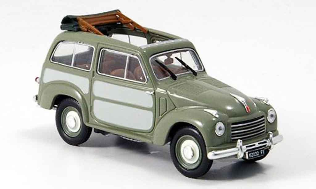 Fiat 500 1/43 Norev Belvedere grise 1952 miniature