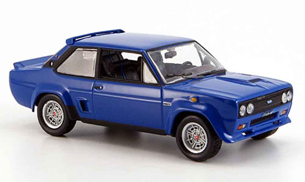 Fiat 131 1/43 Norev Abarth bleu 1976 coche miniatura