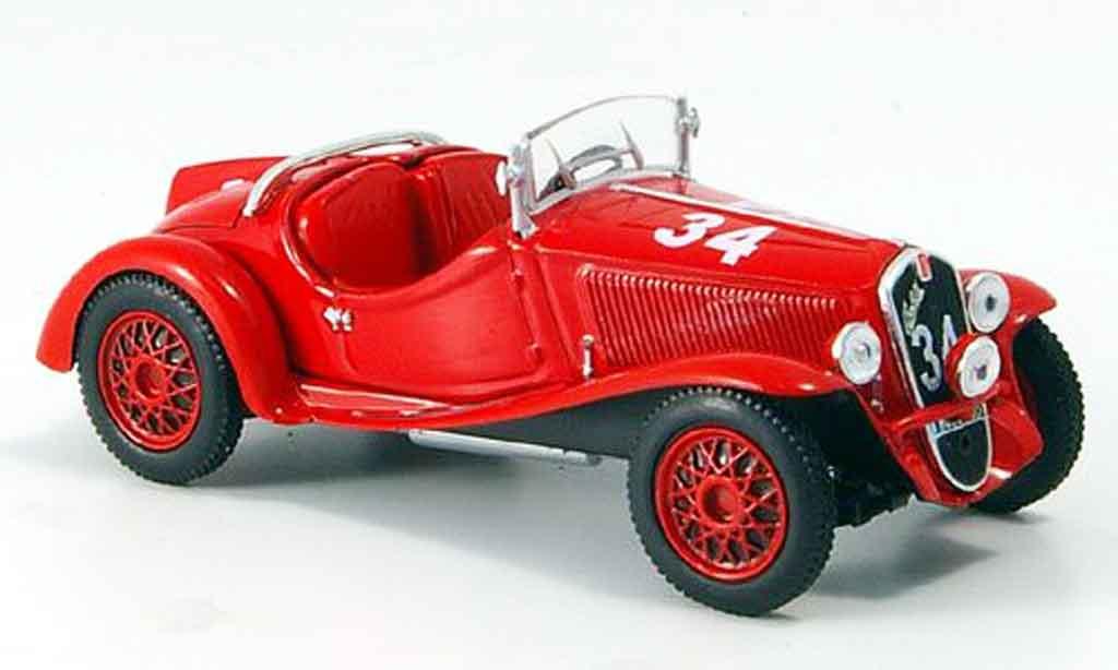 Fiat Balilla 1/43 Norev Sport Mille Miglia red 1937 diecast model cars