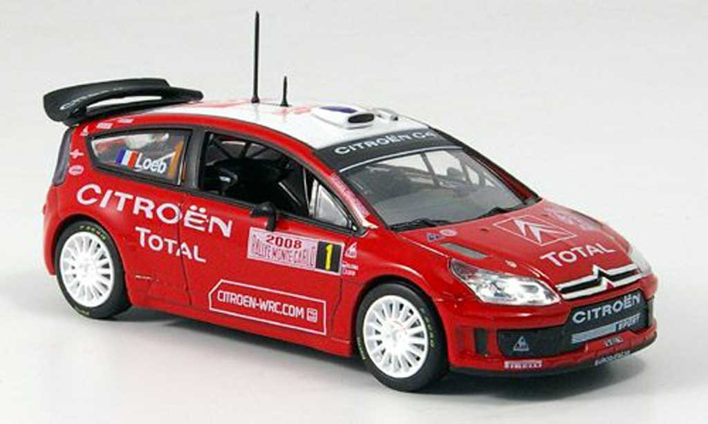 Citroen C4 WRC 2008 1/43 Norev Rally Monte Carlo