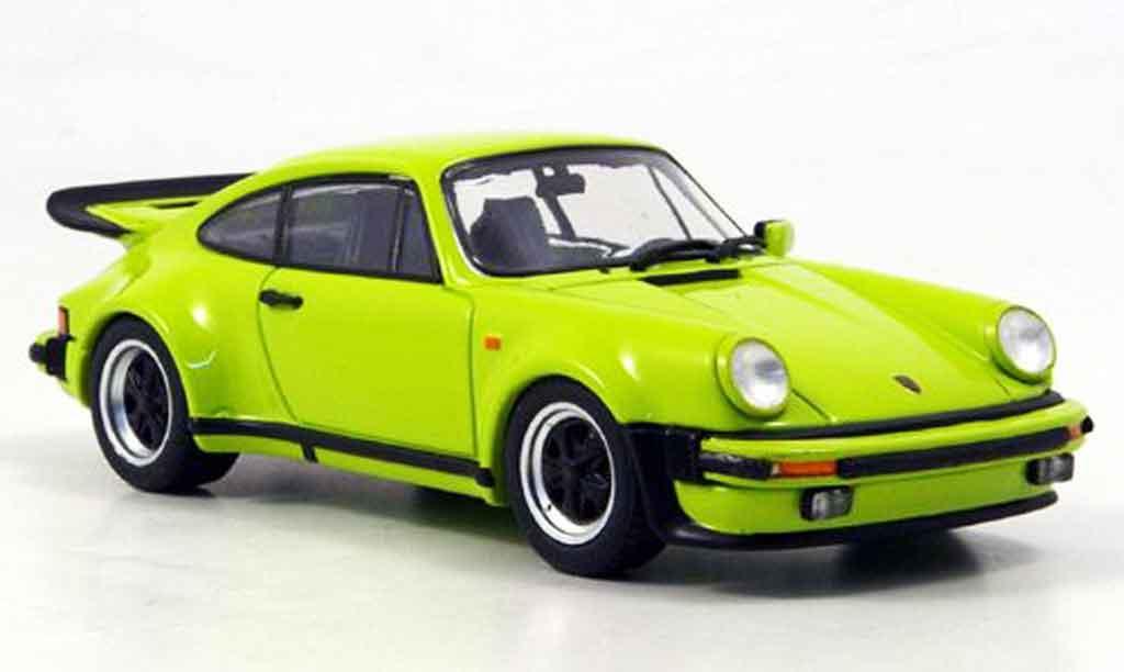 Porsche 930 Turbo 1/43 Ebbro Turbo verde 1977 miniatura