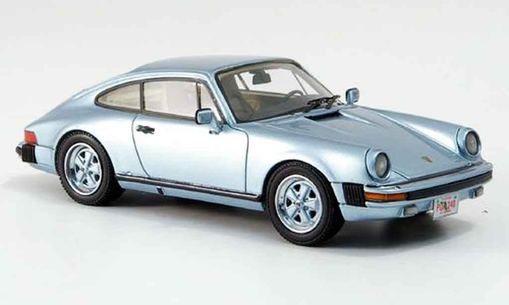 Porsche 930 1/43 Neo Carrera Coupe US Version bleu 1985 miniature