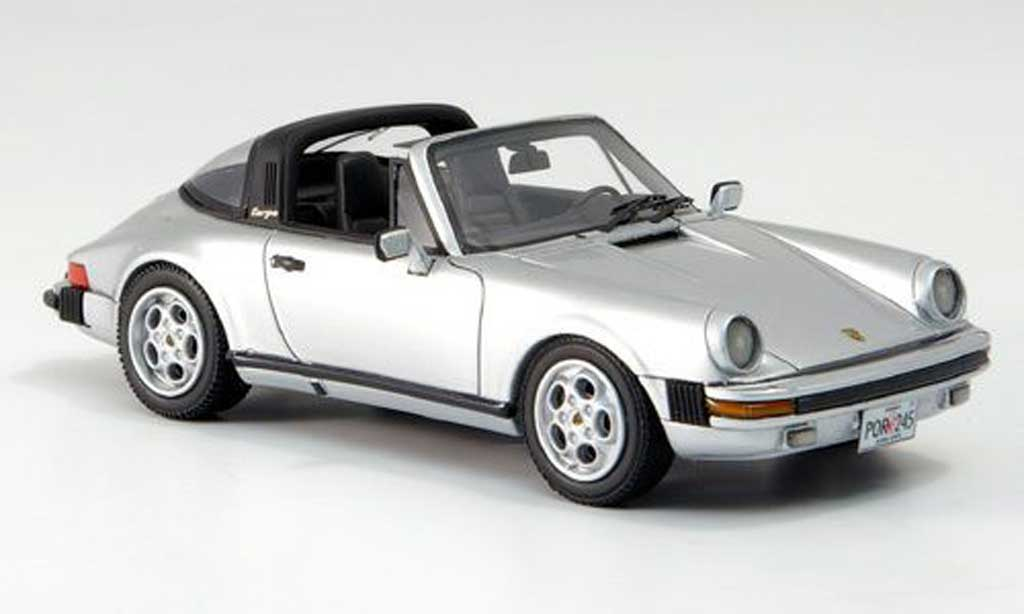 Porsche 930 Targa 1/43 Neo Carrera US-Version grise 1985 miniature