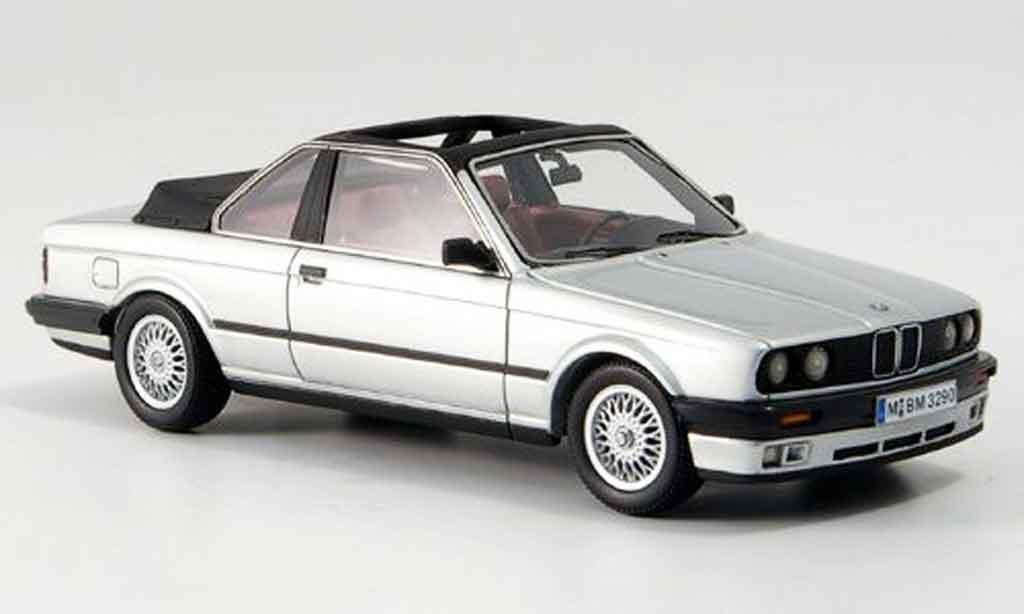 Bmw 318 E30 1/43 Neo i (E30) Baur Cabriolet gray metallisee 1986 diecast