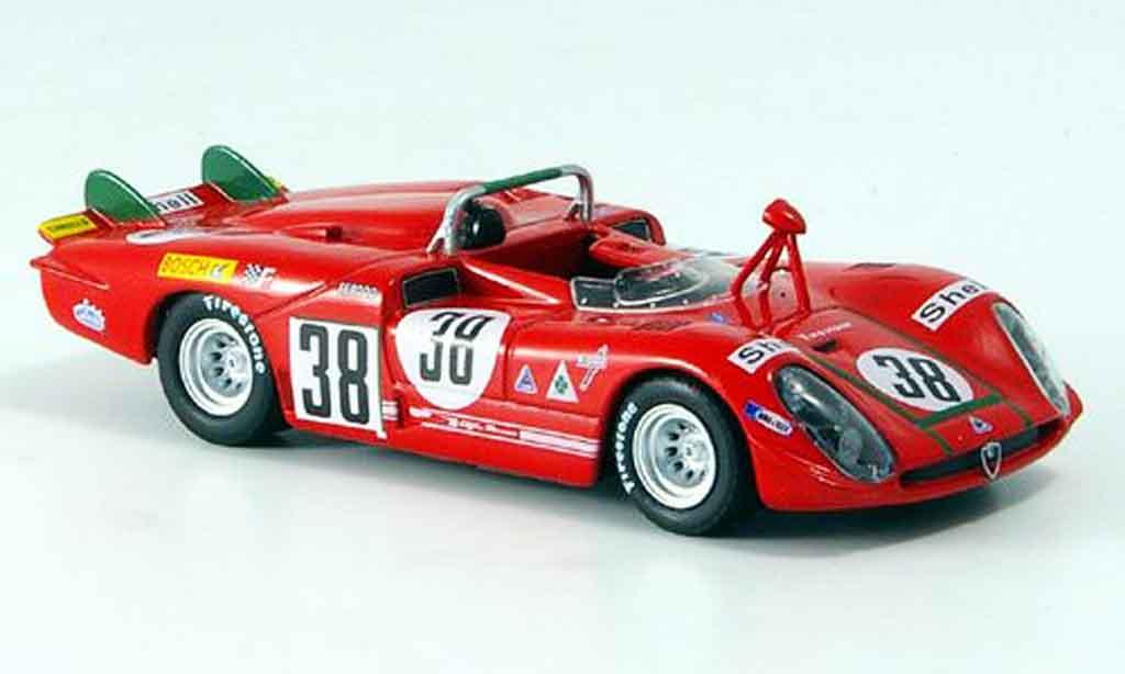 Alfa Romeo 33 1/43 M4 no.38 facetti zeccoli 24h le mans 1970 miniatura