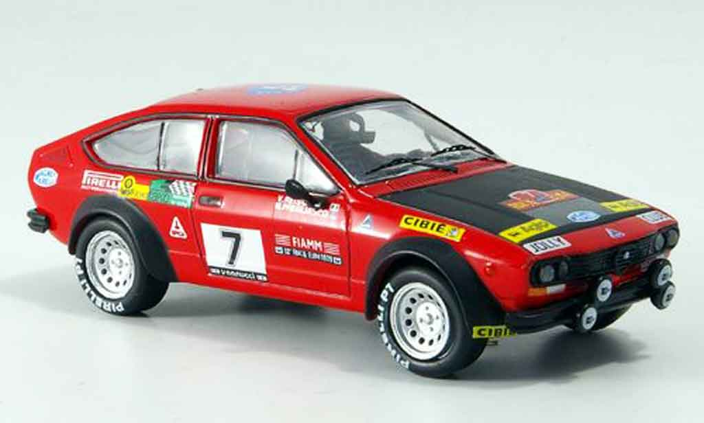 Alfa Romeo GT 1/43 M4 V 2.0 no.7 rallye elba 1979 miniature