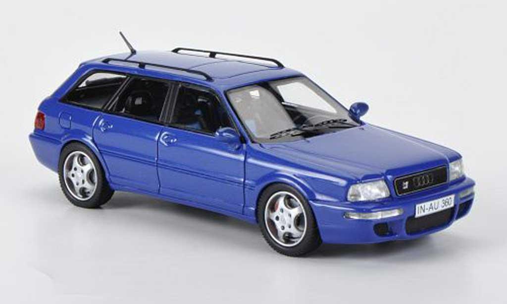 Audi RS2 1/43 Neo bleu miniature