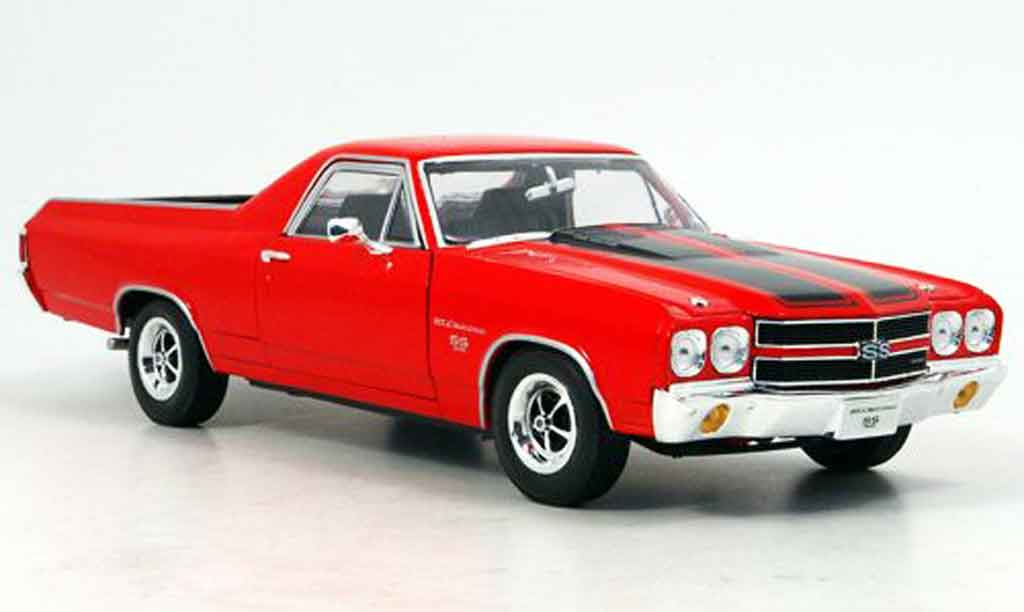 Chevrolet El Camino 1/18 Welly ss396 rouge 1970 miniature