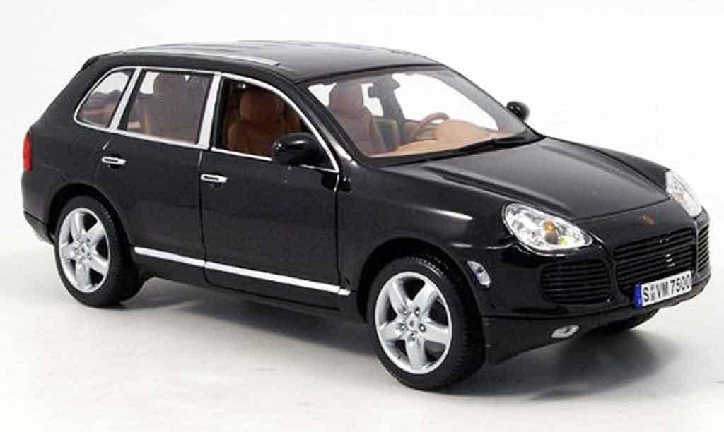Porsche Cayenne Turbo 1/18 Norev noire 2003 miniature