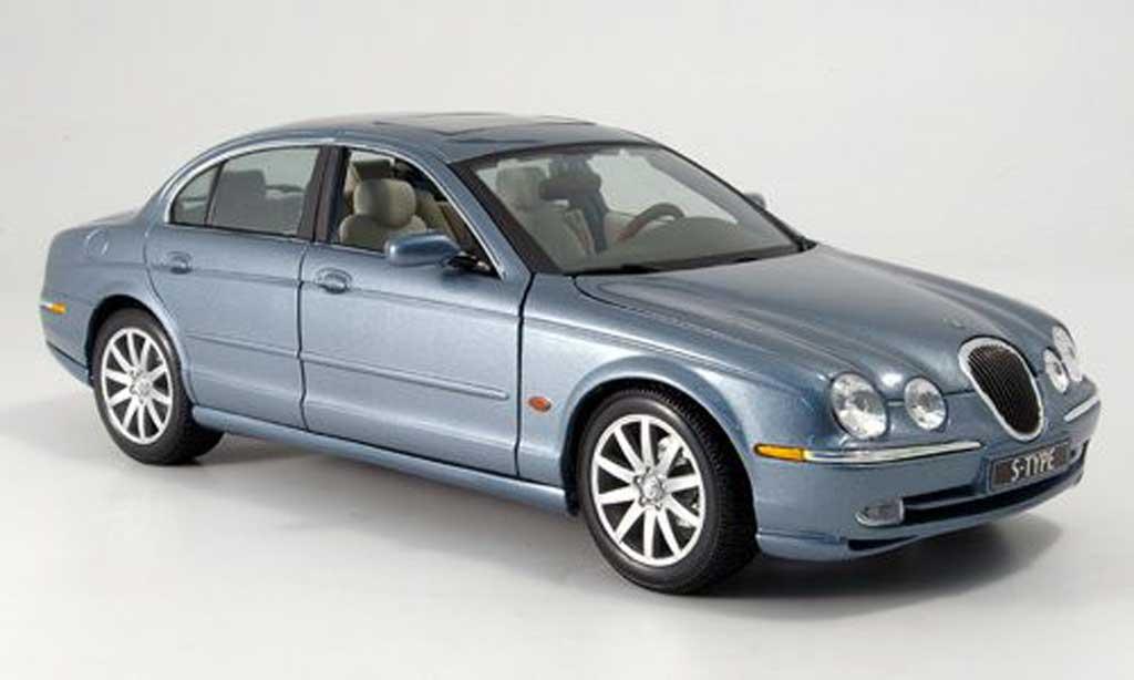 Jaguar S-Type 1/18 Maisto bleu grise miniature