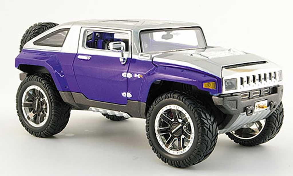 Hummer HX 1/18 Maisto concept bleu grise tuning miniature