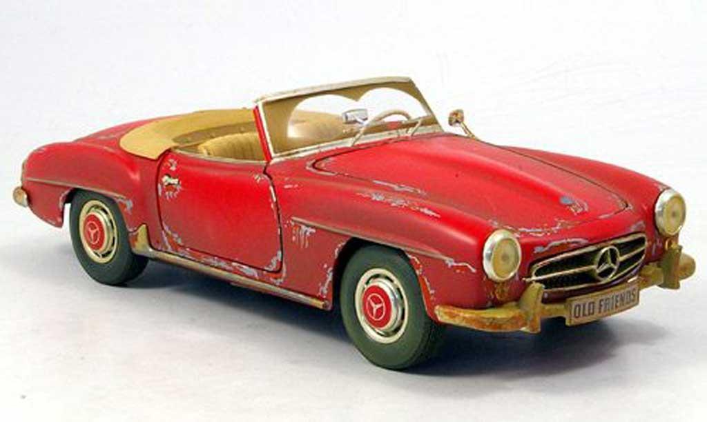Mercedes 190 SL 1/18 Maisto scheunenfund avec altersspuren 1955 miniature