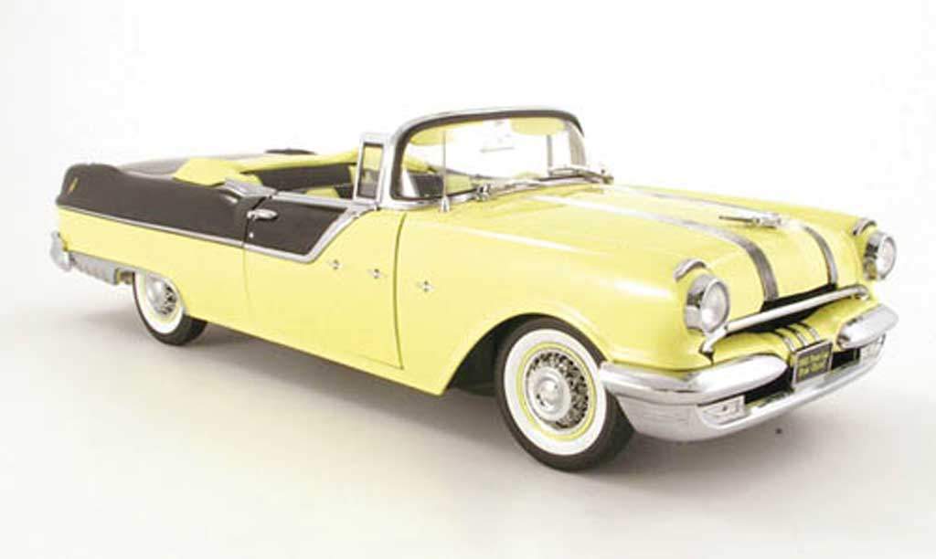 Pontiac Star Chief 1/18 Sun Star convertible jaune/noir 1955 miniature
