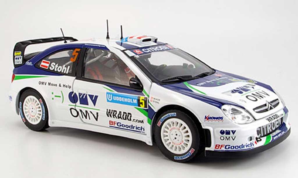 Die cast 1//43 Modellino Auto Citroen Xsara WRC OMV Rally Monte Carlo 2005 Stohl