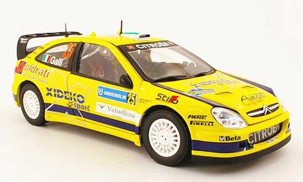 Citroen Xsara WRC 2007 1/18 Sun Star no.25 xideko rallye suisse miniature