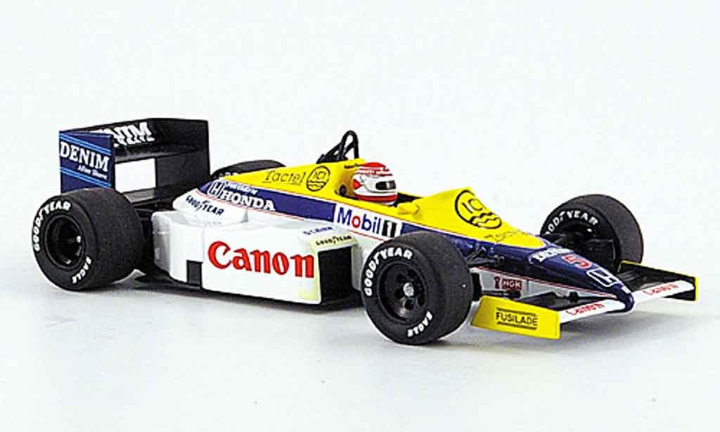 Honda F1 1/43 Minichamps Williams FW 10 No.5 Canon Test Paul Ricard Dez. 1985 miniature