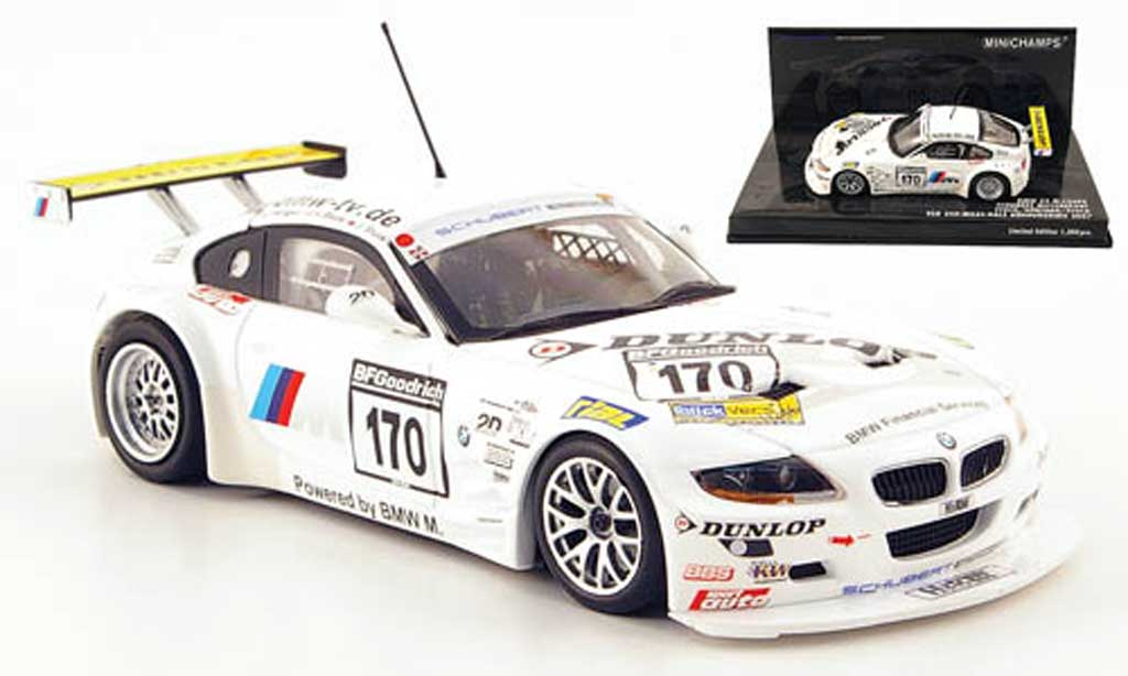 Bmw Z4 E85 1/43 Minichamps M Coupe No.170 Schubert Racing VLN Race 2007 diecast