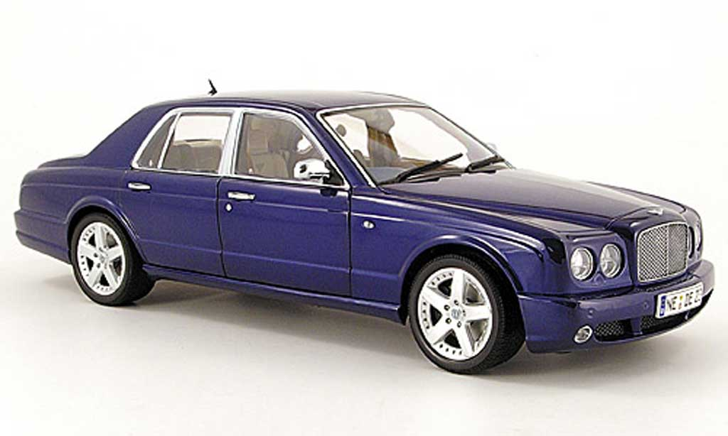 Bentley Arnage 1/18 Minichamps t bleu 2004 miniatura