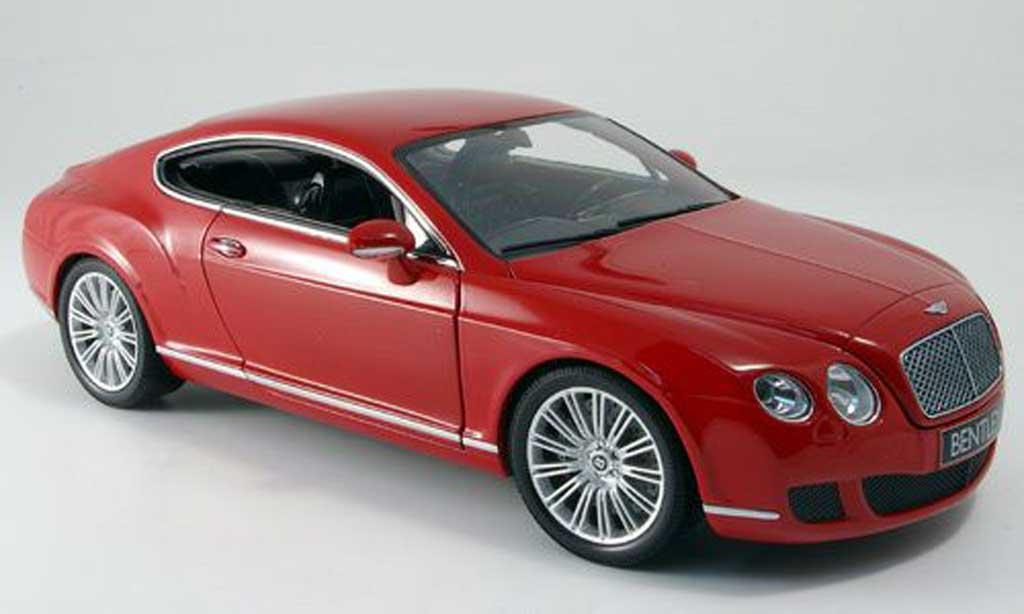 Bentley Continental GT 1/18 Minichamps red 2008 diecast