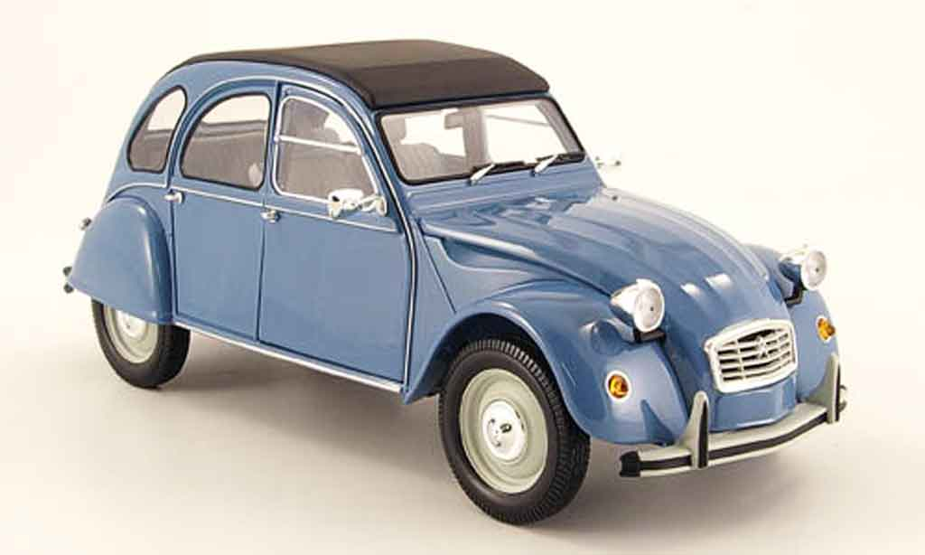 Citroen 2CV 1/18 Minichamps bleu 1983 modellino in miniatura