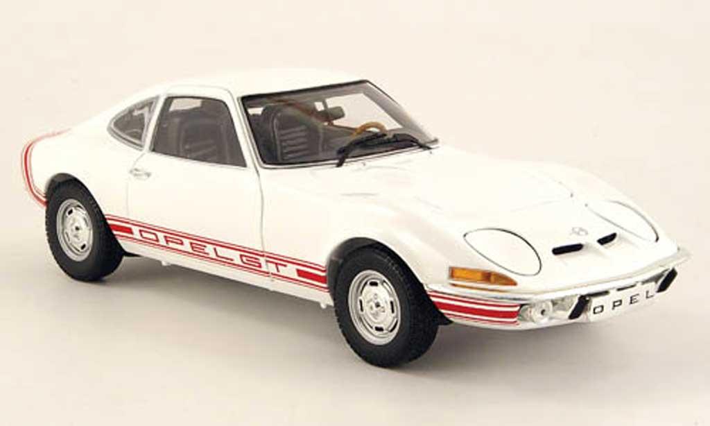 Opel GT 1/18 Minichamps 1900 blanche 1970 miniature