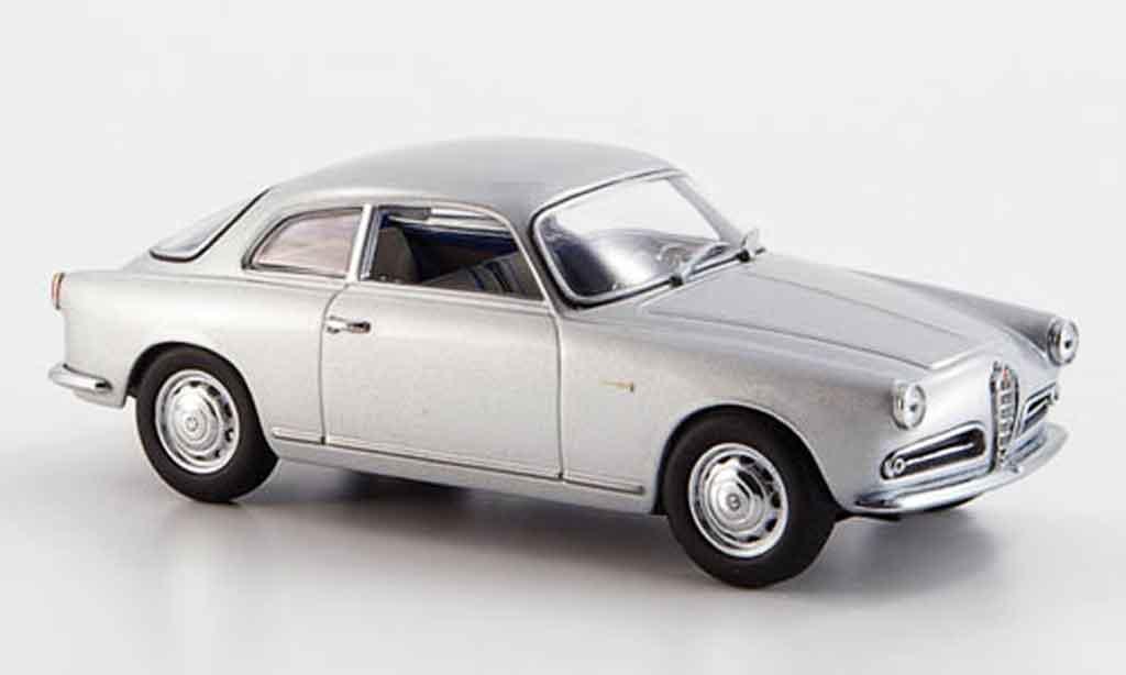 Alfa Romeo Giulietta Sprint 1/43 Minichamps grise metallisee 1954 miniature