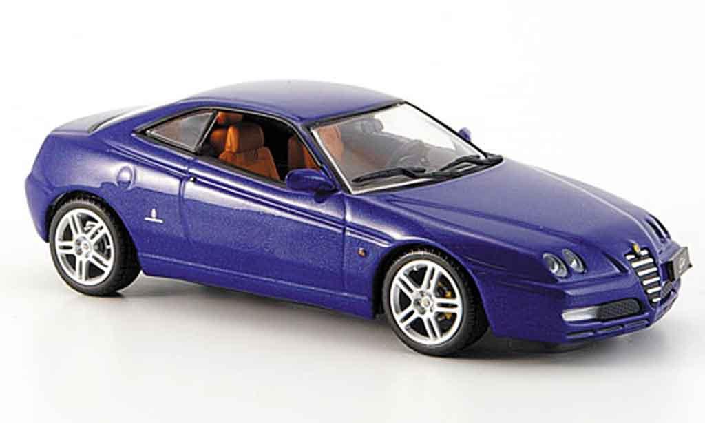 Alfa Romeo GTV 3.2 1/43 Minichamps bleu 2003 miniatura