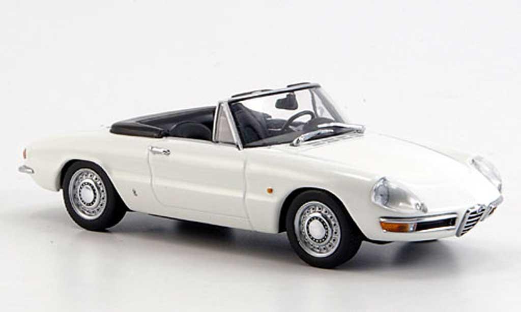 Alfa Romeo 1750 1/43 Minichamps Spider Veloce blanche 1968 miniature