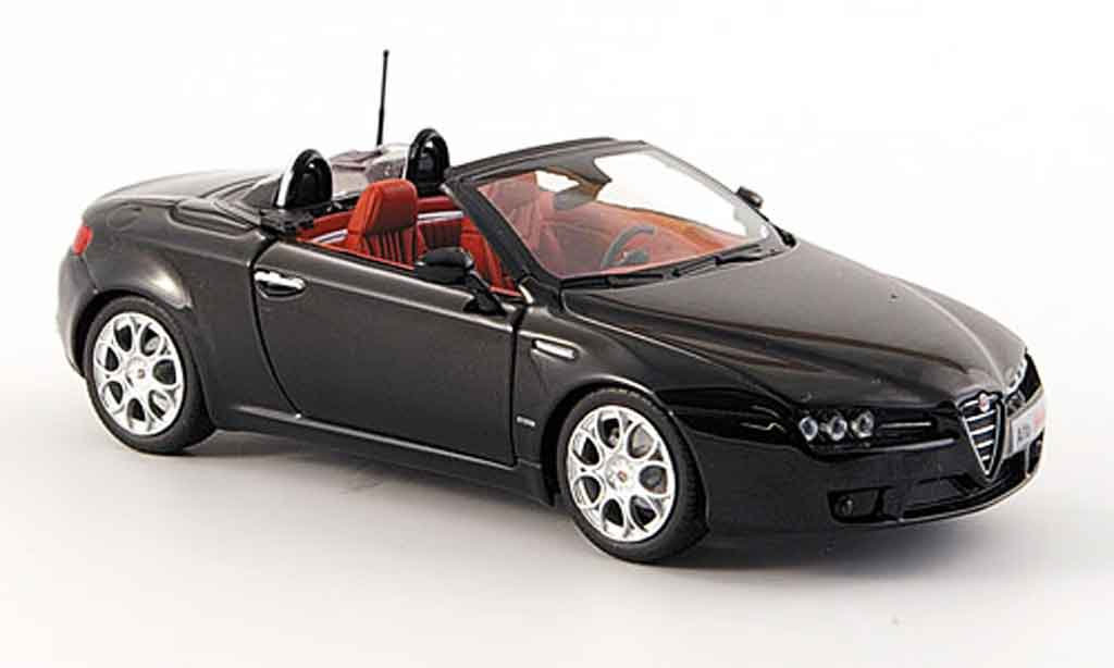 Alfa Romeo Spider 1/43 Minichamps black 2007 diecast model cars