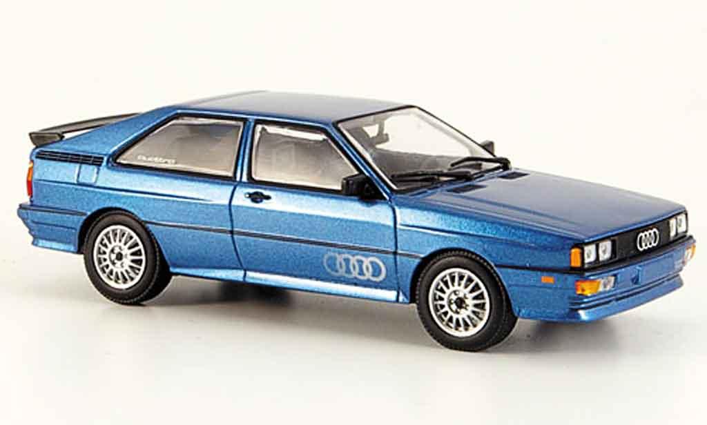 Audi Quattro 1/43 Minichamps bleu 1981 diecast