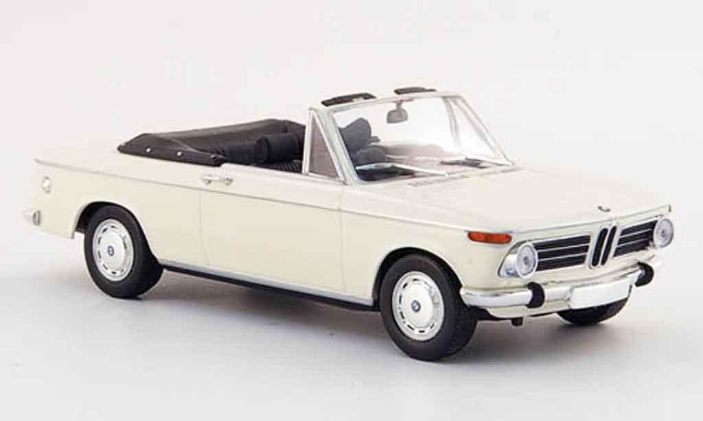 Bmw 2002 Ti 1/43 Minichamps Cabriolet blanche 1971 miniature