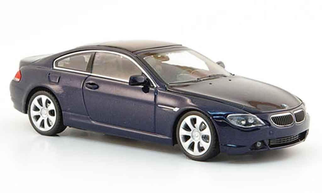Bmw 650 E64 1/43 Minichamps Coupe bleu 2006 modellino in miniatura