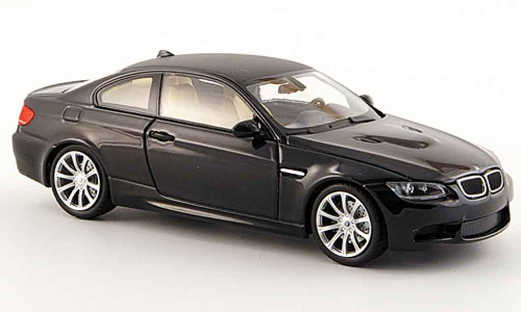 Bmw M3 E92 1/43 Minichamps black 2008 diecast model cars
