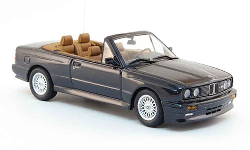 Bmw M3 E30 1/43 Minichamps Cabriolet black 1988 diecast model cars
