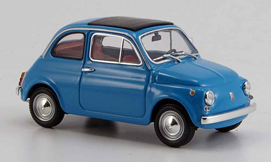 Fiat 500 1/43 Minichamps bleu 1965 miniature