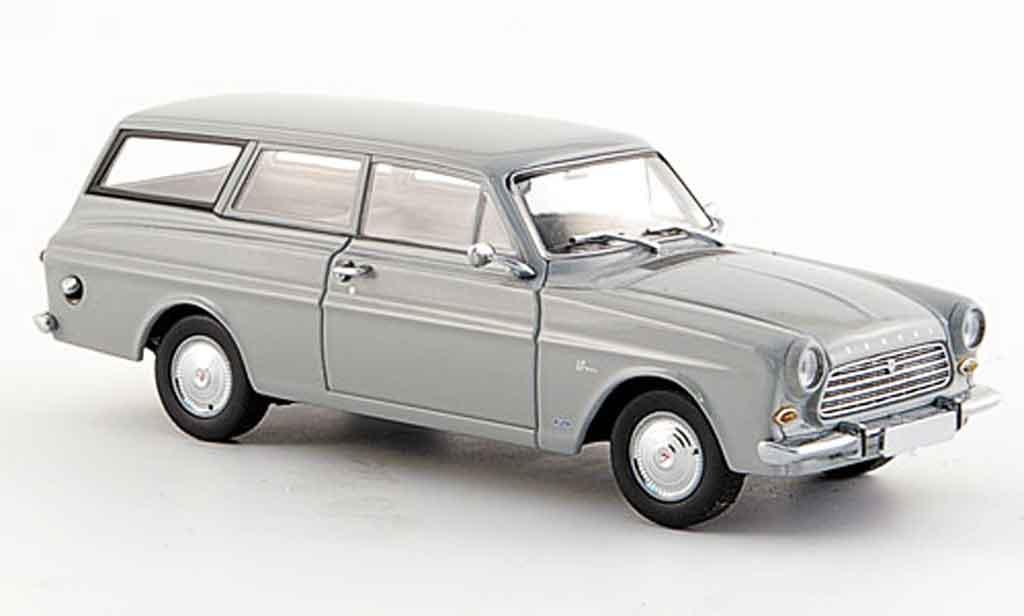 Ford Taunus 1963 1/43 Minichamps 12 M (P 4) Turnier grise miniature