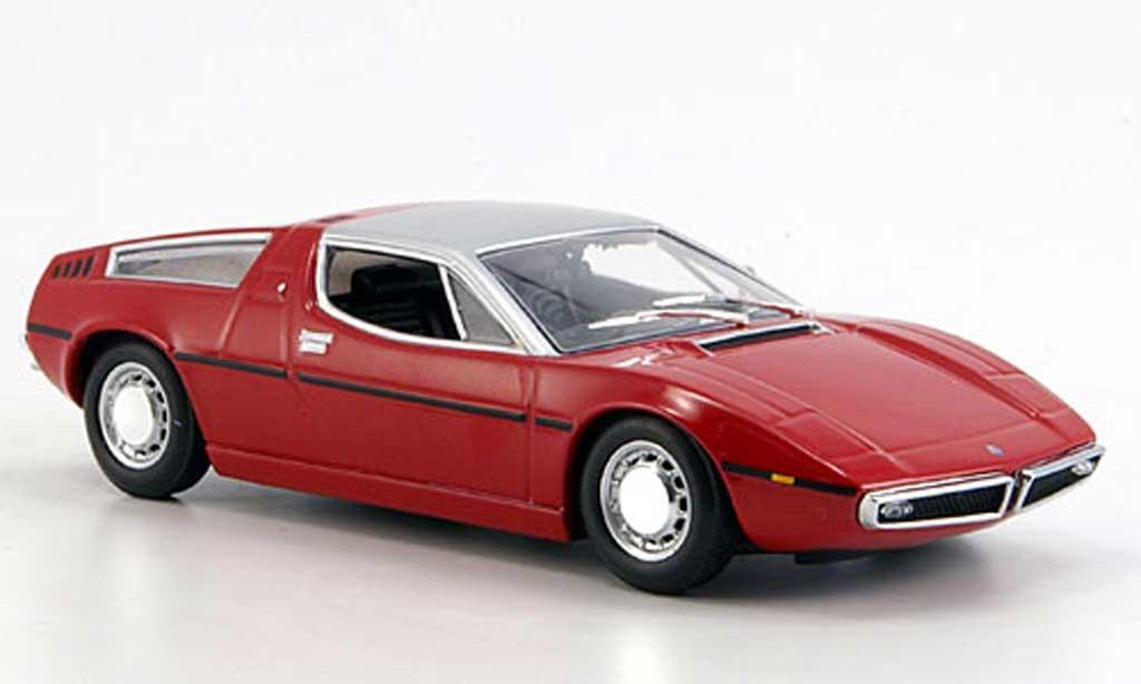 Maserati Bora 1/43 Minichamps rouge/grise 1972