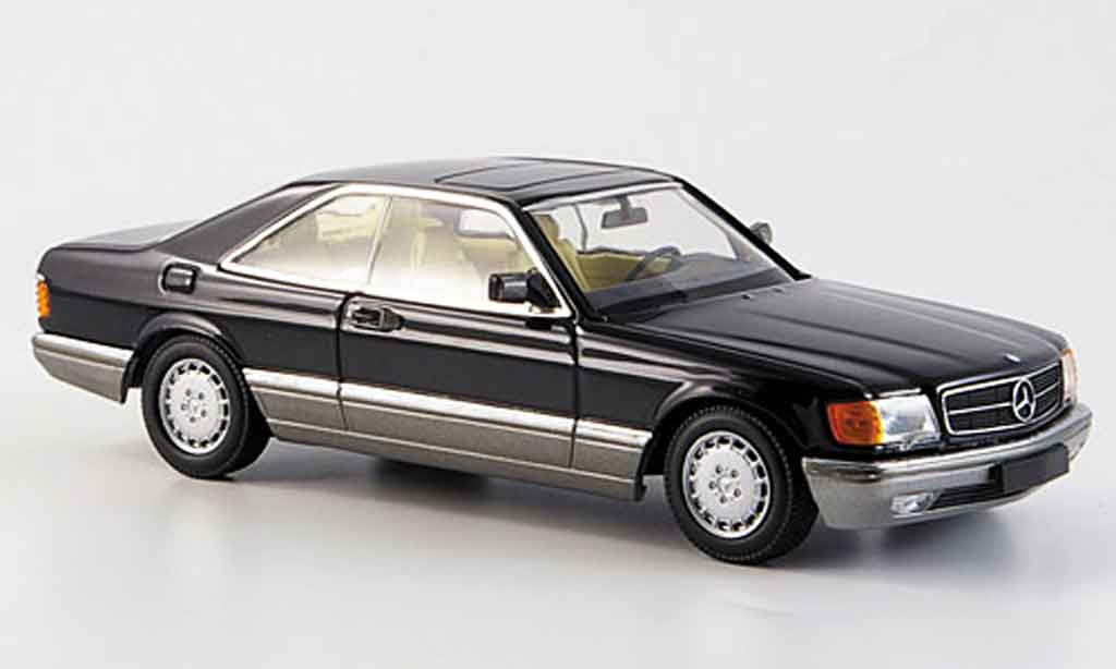Mercedes 560 SEC 1/43 Minichamps black 1986 diecast model cars