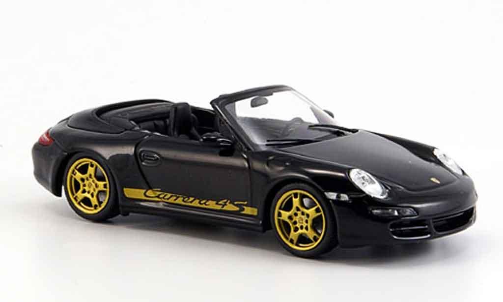 Porsche 997 4S 1/43 Minichamps Carrera black geoffnetes Verdeck 2005 diecast model cars